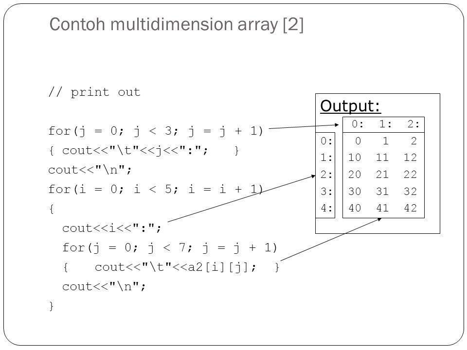 Contoh multidimension array [2]